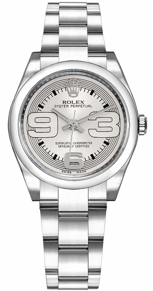 Rolex Oyster Perpetual 31 Silver Dial Watch 177200