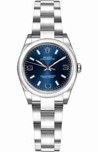 Rolex Oyster Perpetual 26 Blue Dial Watch 176200
