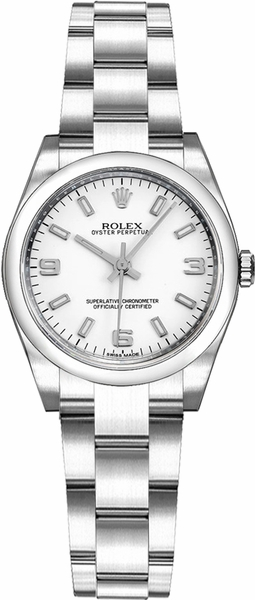 Rolex Oyster Perpetual 26 White Dial Women's Watch 176200-0011