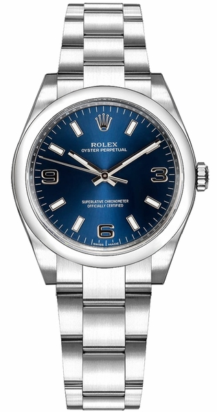 Rolex Oyster Perpetual 31 Blue Dial Watch 177200