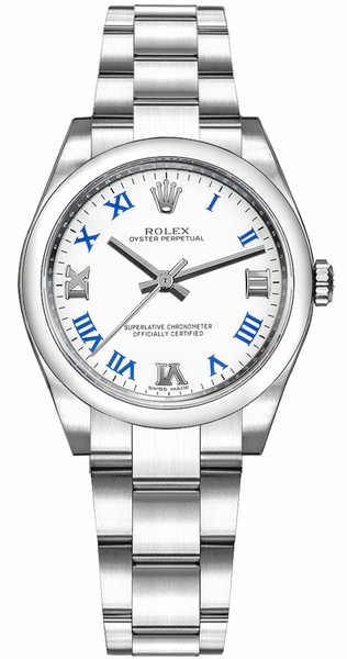 Rolex Oyster Perpetual 31 White Dial Gold & Steel Watch 177200