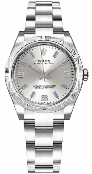 Rolex Oyster Perpetual 31 Silver Dial Women's Watch 177210