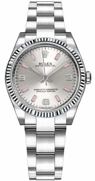 Rolex Oyster Perpetual 31 Oyster Bracelet Fluted Bezel Watch 177234