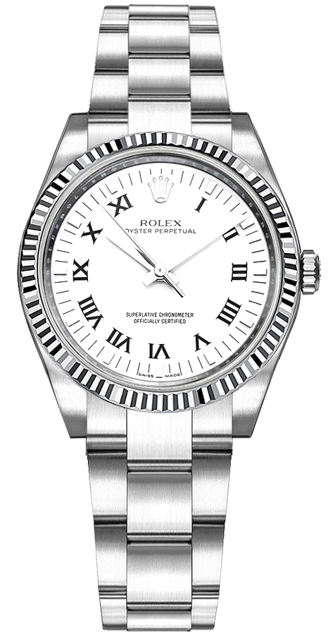 177234 Rolex Oyster Perpetual 31 White Roman Dial