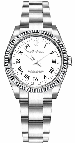 Rolex Oyster Perpetual 31 White Roman Numeral Dial Watch 177234