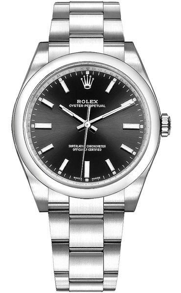 Rolex Oyster Perpetual 34 Black Dial Women's Watch 114200-0023