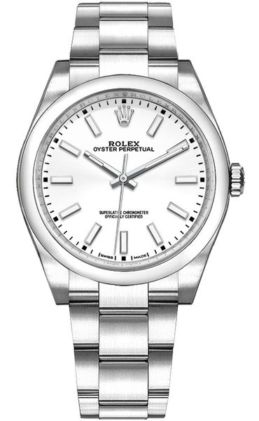 Rolex Oyster Perpetual 34 White Dial Women's Watch 114200