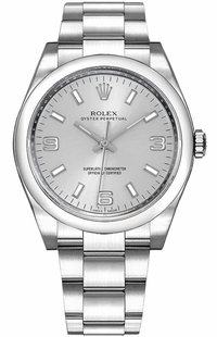 Rolex Oyster Perpetual 36 Silver Dial Watch 116000