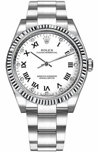 Rolex Oyster Perpetual 36 White Dial Watch 116034