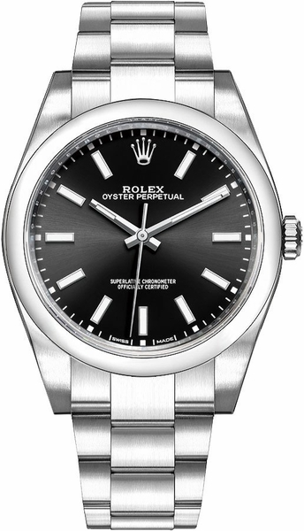 Rolex Oyster Perpetual 39 Black Dial Men's Watch 114300-0005