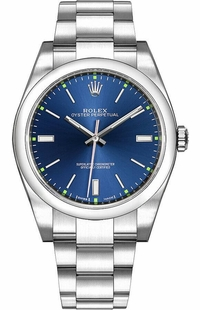 Rolex Oyster Perpetual 39 Blue Dial Men's Watch 114300-0003