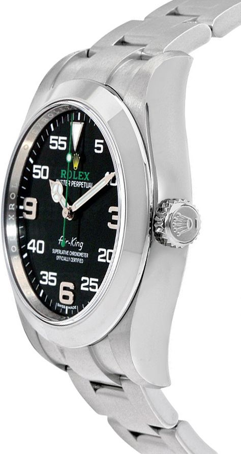 Rolex Oyster Perpetual Air King Black Dial Men S Watch 116900