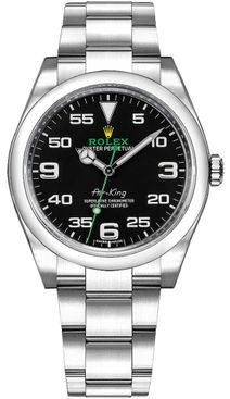 Rolex Oyster Perpetual Air-King Black Dial Men's Watch 116900-0001