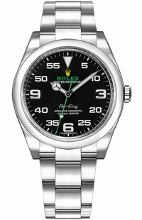 Rolex Oyster Perpetual Air-King Black Dial Men's Watch 116900