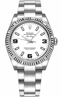 Rolex Oyster Perpetual Air-King White Dial Watch 114234
