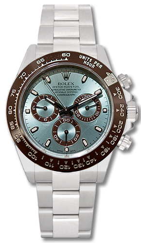 116506 50th Anniversary Rolex Cosmograph Daytona Platinum Watch Blue