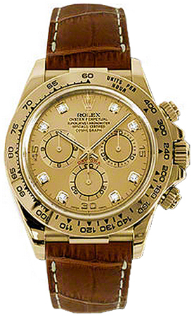 116518 Rolex Oyster Perpetual Cosmograph Daytona Gold Watch Gold