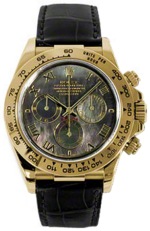 116518 Rolex Oyster Perpetual Cosmograph Daytona Gold Watch Mop