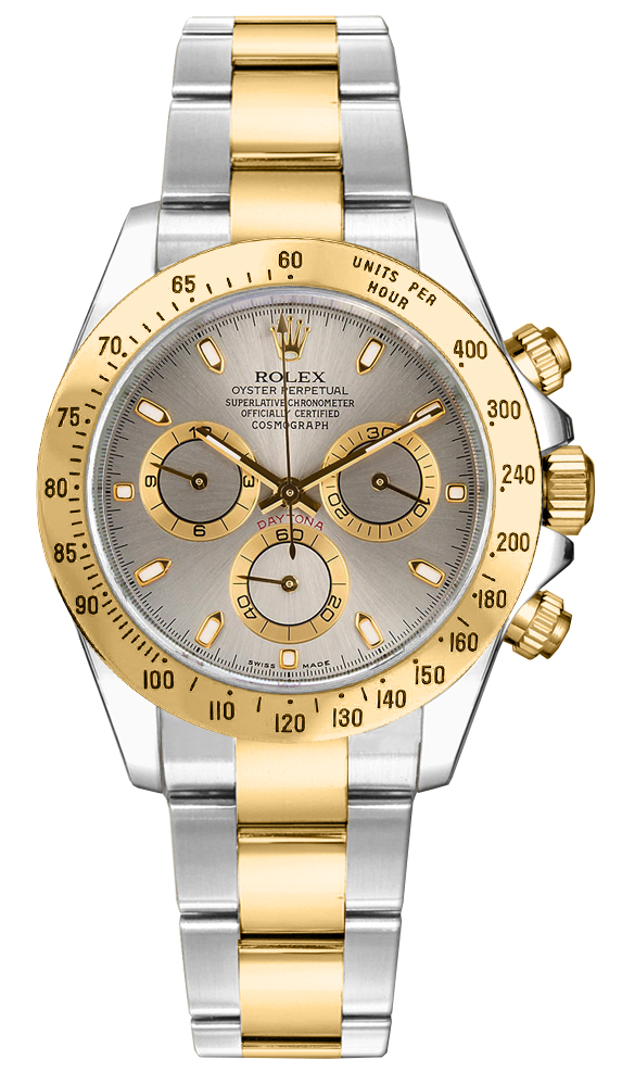 116523 Rolex Oyster Perpetual Cosmograph Daytona Two Tone Watch Gray