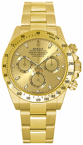 Rolex Cosmograph Daytona Solid Gold Watch 116528