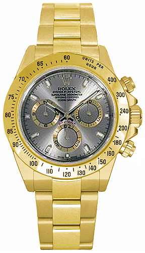 Rolex Cosmograph Daytona Grey Dial Men's Watch 116528