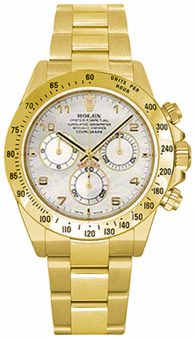 Rolex Cosmograph Daytona Mother of Pearl Dial Watch 116528