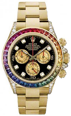 8dfacebd7e4 116598 Rolex Oyster Perpetual Cosmograph Daytona Gold Watch Rainbow ...