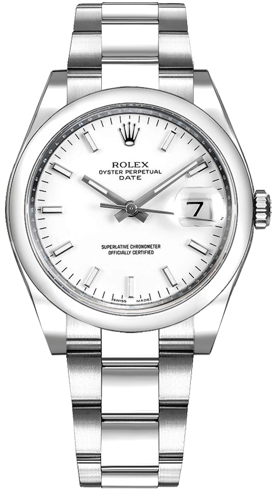 Rolex_Oyster_Perpetual_Date_34_White_Dial_Luxury_Watch_115200