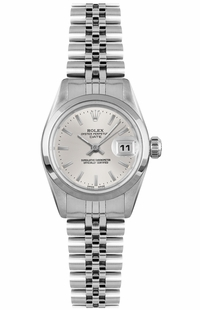 Rolex Oyster Perpetual Date 26 Silver Dial Women's Watch 79160