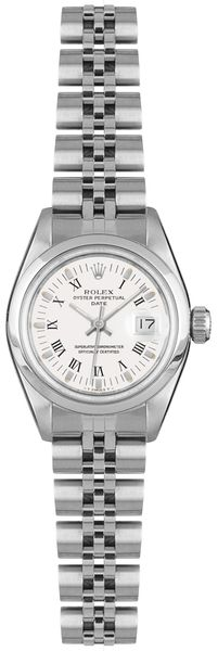 Rolex Oyster Perpetual Date White Dial Women's Watch 69160
