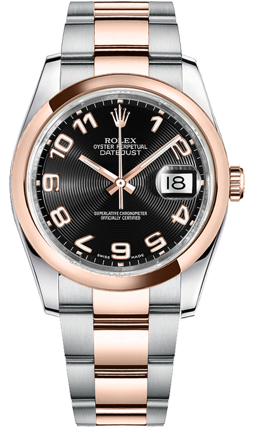 116201 Rolex Oyster Perpetual Datejust Two Tone Mens Watch