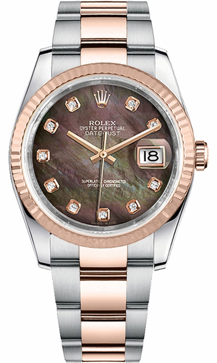 5002b0bec1c Rolex Datejust 36 Automatic Rose Gold   Steel Watch 116231 - image ...