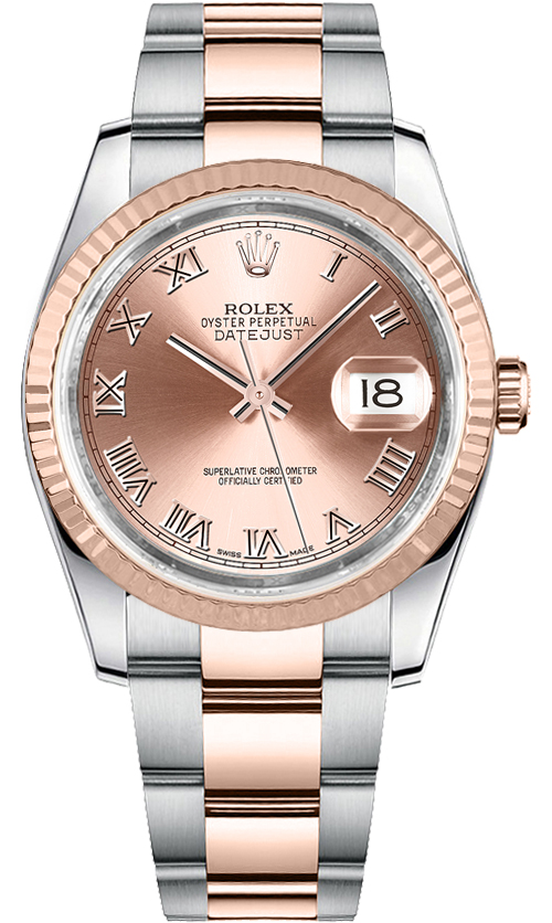 Rolex Pink Dial With Diamonds