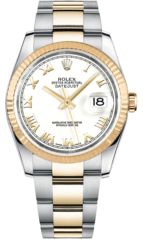 Rolex Datejust 116233 White Roman Numeral Dial Watch