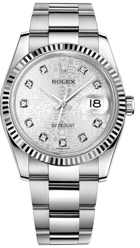 116234 Rolex Oyster Perpetual Datejust 36 Silver Jubilee