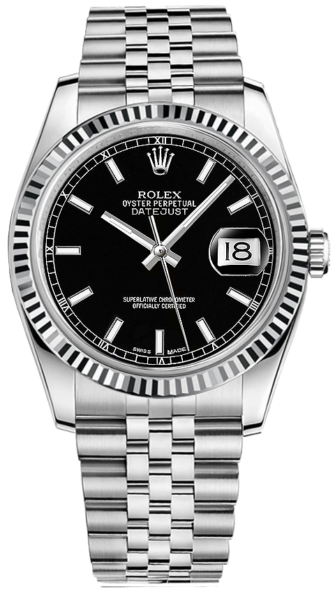 Rolex Datejust 36 Black Dial Men\u0027s Watch 116234