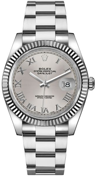 Rolex Datejust 36 Silver Roman Numeral Dial Watch 116234