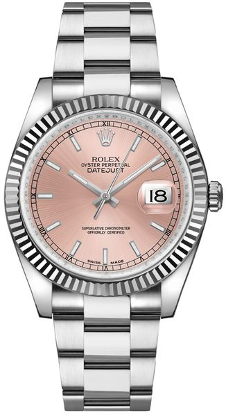 Rolex Datejust 36 Women's Pink Dial Watch 116234
