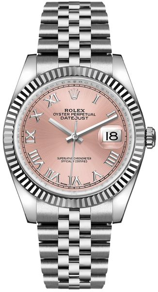 Rolex Datejust 36 Pink Roman Numeral Dial Watch 116234