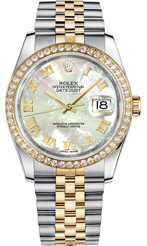 Rolex Datejust 36 Mother of Pearl Dial Watch 116243