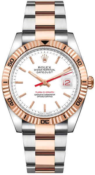 Rolex Datejust 36 Rose Gold & Oystersteel Men's Watch 116261