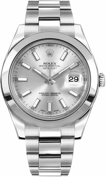 Rolex Datejust II 41 Silver Dial Men's Automatic Watch 116300