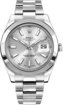 Rolex Datejust II 41 Silver Dial Men's Automatic Watch 116300-0007