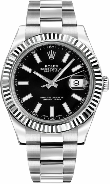 Rolex Datejust II 41 Fluted Bezel Men's Watch 116334