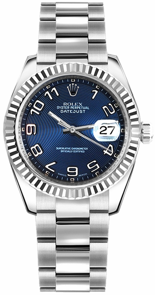 Rolex Datejust 31 Blue Dial Automatic Ladies Watch 178274