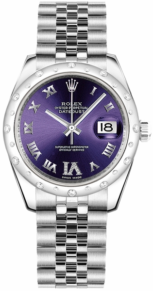 Rolex Datejust 31 Purple Dial Watch 178344