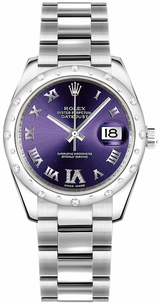Rolex Datejust 31 Purple Diamond Dial Gold & Steel Watch 178344