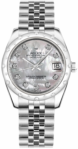 Rolex Datejust 31 Mother of Pearl Diamond Jubilee Watch 178344