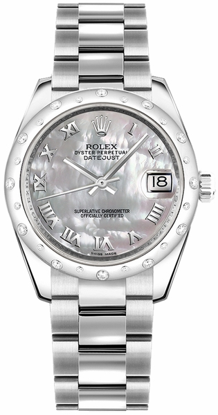 Rolex Datejust 31 Solid 18K White Gold & Stainless Steel Watch 178344-0027