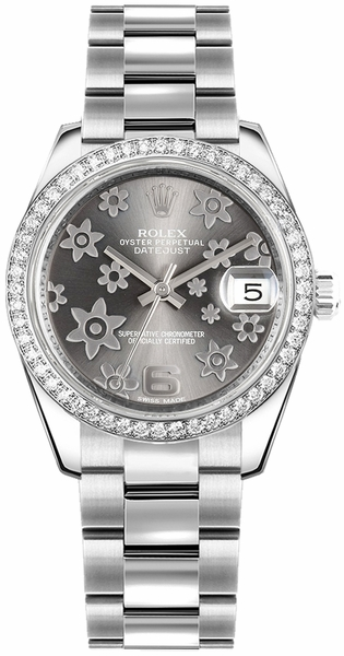 Rolex Datejust 31 Rhodium Floral Dial Women's Watch 178384